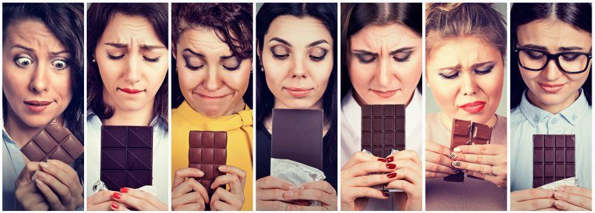 Several people who are addicted to chocolate.
